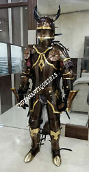 Medieval Knight Suit Of Armor Ancient Wearable Costume Larp Cutlery Set Free