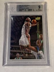 2008-09 Upper Deck Electric Court Gold Lebron James Sp Hof Bgs 9 33