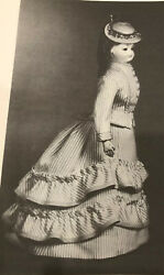 Vtg 15 Antique French Fashion Lady Doll Costume Bascue Skirt Overskirt Pattern