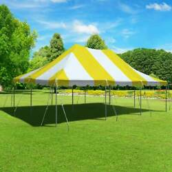 Premium 20x30 Pole Tent Yellow White Party Canopy Waterproof Block Out Vinyl