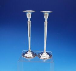 Webster Sterling Silver Candlestick Holder Pair 8 Tall X 2 5/8 4680