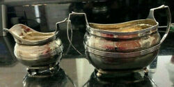 Sterling Silver Georgian Sugar Bowl And Creamer