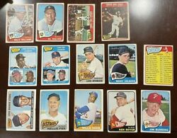 1965 Topps Starter Set Of 120 Different Mixed Grade Rookie Stars Hi Number