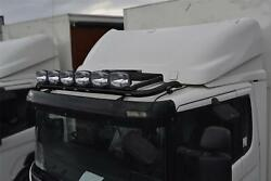 To Fit 06+ Volvo Fl Truck Steel Roofbar A + Led + Spot + Beacon + Airhorn -black