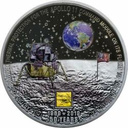 2019 Moon Landing Apollo 11 With Flown Foil 3oz Silver 20 Cook Islands