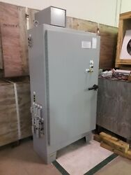 Hoffman A-72xm4018ftc Enclosure Cabinet W/ 200 Amp 3 Phase Disconnect