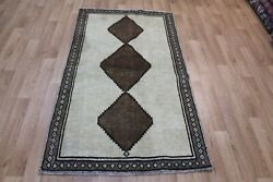 Antique Handmade Persian Gabbeh Rug Organic Wool And Natural Dyes 180 X 103 Cm