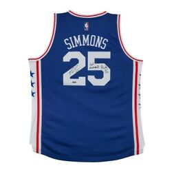 Ben Simmons Signed Autographed Blue 76ers Jersey 1st Overall Pick Inscribed Uda