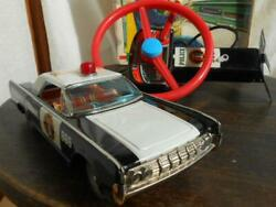 Nomura Toy Police Tin Car Highway Patrol 965 Battery Operated Remote Control