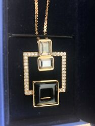 Brand New Box Necklace Silver Harpers Pendant 1023617 Crystal Jewlery