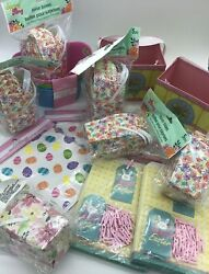 Entire Lot Of New Easter Treat Decorative Goodie Bags And Boxes - 137 Pcs