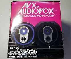 Avx By Audiovox Try-25 6 Round Speakers - Vintage - New