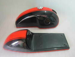 Benelli Mojave Cafe Racer Dual Painted Aluminium Fuel Tank With Seat Hood Pair