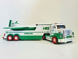 Hess Gasoline Truck And Air Craft Carrier Toy Fully Functional 2014 Collectable