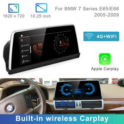 8-core Android 10 Car Gps Bt Wireless Carplay For Bmw 7 Series E65 E66 2005-2009
