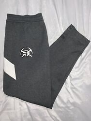 Nwt Nike Denver Nuggets On-court Ghost Gray Warmup Pants Size Xxl-t Rare