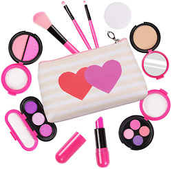 Pretend Makeup Toys for Girls Play Cosmetic Set Make Up Bag for Kids $16.99