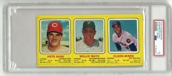 1970 Transogram Full Panel Willie Mays Pete Rose Hand Cut Psa 3. Only 6 Higher