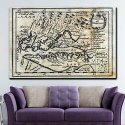 Old Map Of Virginia And Maryland Antique And Vintage World Maps Canvas Art Print