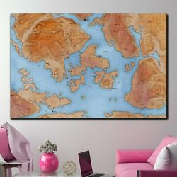 Abstract Relief Map Antique And Vintage World Maps Canvas Art Print For Wall Dec