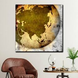 Old Grunge Globe Antique And Vintage World Maps Canvas Art Print For Wall Decor