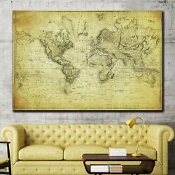 1831 World Map Antique And Vintage World Maps Canvas Art Print For Wall Decor
