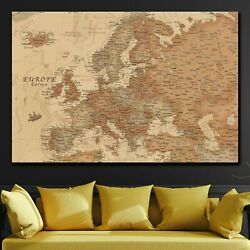 Ancient Geographical Map Of Europe Antique And Vintage World Maps Canvas Art Pri