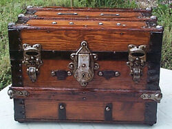Small Desktop Antique Chest - Refurbished By The Pirates Lair.