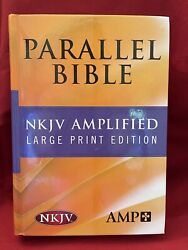 Nkjv/amplified Parallel Bible Large Print Edition By Hendrickson Bibles