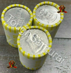 3 Rolls Of Half Dollars - Unsearched - Fed Sealed- Possible 40 90 Silver Coins
