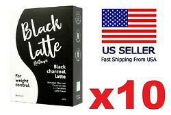 10x Packs Black Latte Dry Drink Genuine Weight Control Loss Great Deal Low Price
