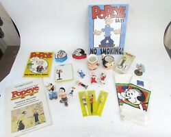 Mixed Lot Of Popeye Collectibles- Books Pens Watch Mugs Ornaments - 80s 90s