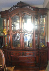Antique Cherry Buffet And Hutch China Cabinet Paid 2400