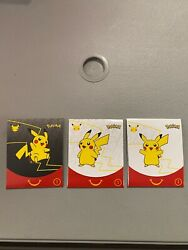 2021 Mcdonald's Pokemon Cards Trading Card Game Booster Pack Happy Meal Toy Case