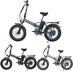 Electric Bike 750w 20and039and039 Fat Tire Folding Beach City Bicycle W/extra Light Option