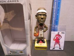 2003 Upper Deck Lebron James Rookie Card And Bobblehead Cleveland Cavaliers