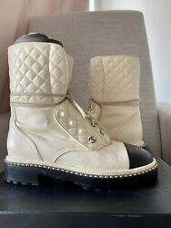 Authentic -sold Out- 17b Pearl Combat Boots Size 38.5