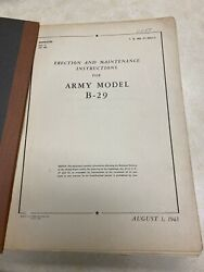 Ww2 1943 B-29 Boeing Superfortress Erection And Maintenance Instructions