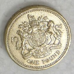 Rare Mint 1983 Uk Royal Arms One 1 Pound Coin Error Decus Et Tutamen Upside Down