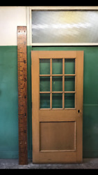 Salvaged 36 Interior Wood Doors With 9 Lites Solid Church Vintage W/o Hardware