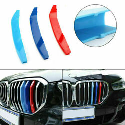 Tri-colour Front Grille Grill Cover Strips Clip Trim For Bmw X5 2019