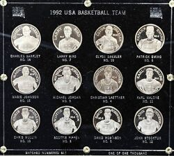 Usa Basketball Dream Team 1992 Matched 'd Set Of 12 .999 Fine Silver Coins