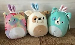 Squishmallows 8andrdquo Easter Bunny Ears Puppy And Cat Bubble Kellytoy Limited Edition