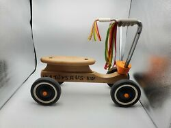 Toys R Us Vintage Wooden Ride-on Bicycle Toy Child-size All Original