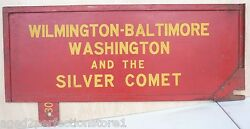 Wilmington Baltimore Washington And Silver Comet Old Train Rr Station Sign 2 Sided