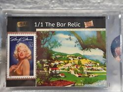 Marilyn Monroe 2019 The Bar Piece Of The Past Stamp/hollywood Postcard Relic 1/1