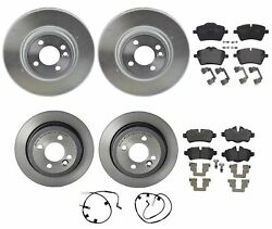 Brembo Xtra Front Rear Brake Kit Drill Rotors Low-met Pads For Mini R55 R56 R57