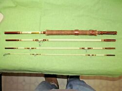 Vintage Shakespeare 4pc. Wonderod Combo Fly And Spin Fishing Rod - No. 628 - 7'0