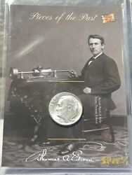 Thomas A. Edison 2020 The Bar Pc Of The Past 1964 Silver Dime Relic Ssp Spm 1/1