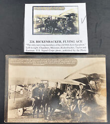 Mint Usa Rppc Postcard Early Aviation Only Surviving Member 94th Aero Squadron